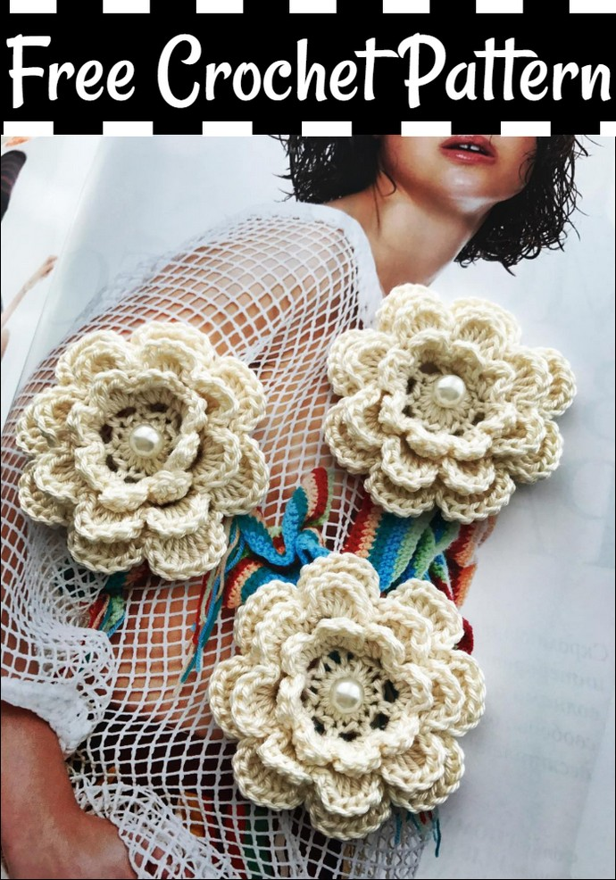 Beautiful And Free Crochet Flower Pattern