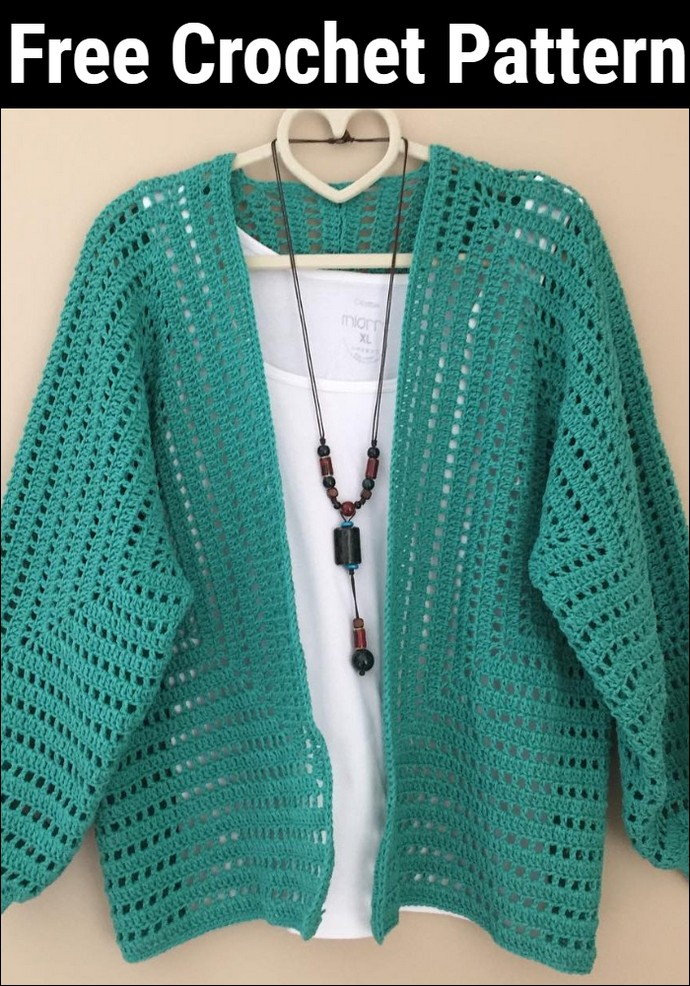 Beauty Beginner Crochet Cardigan Pattern