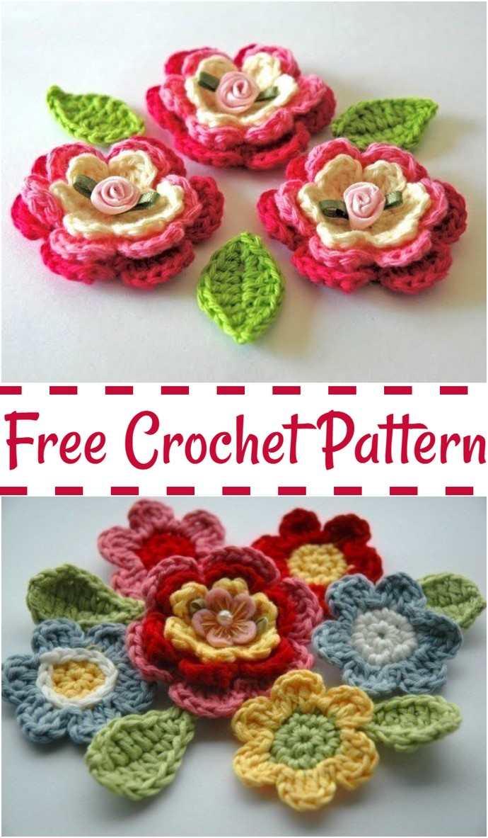 Blooming Crochet Flowers Pattern
