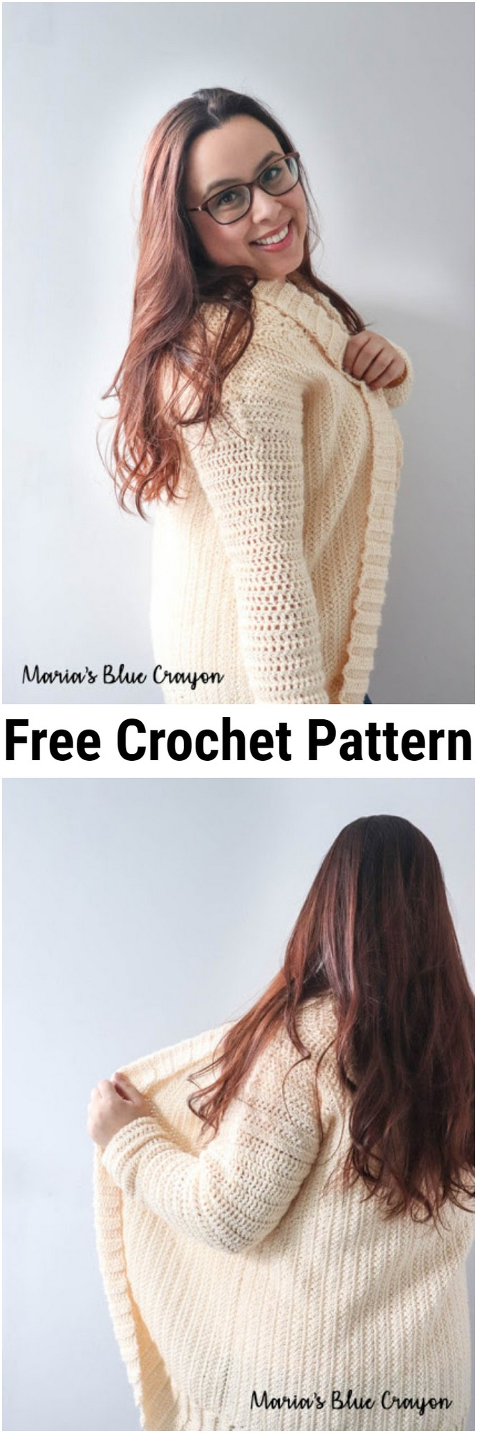 Cardigan Shrug Free Crochet Pattern