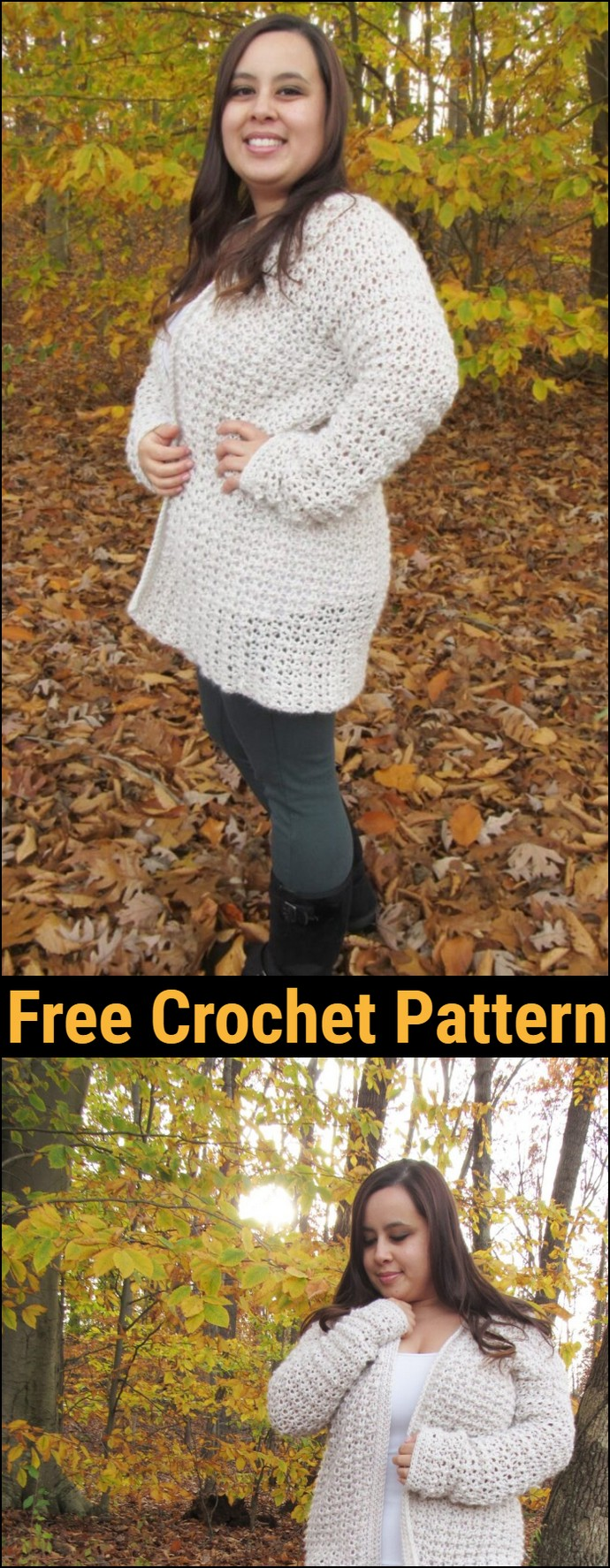 Comfy Cozy Oversized Crochet Cardigan Pattern