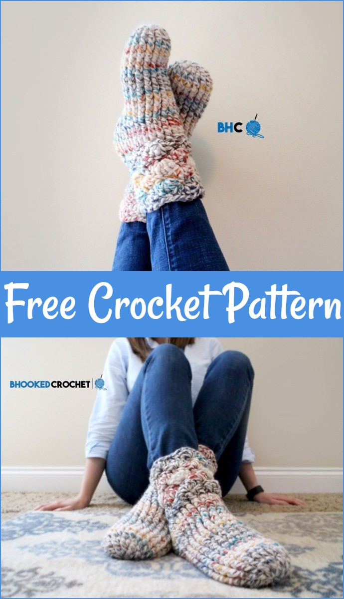 Cozy Free Crochet Slipper Socks