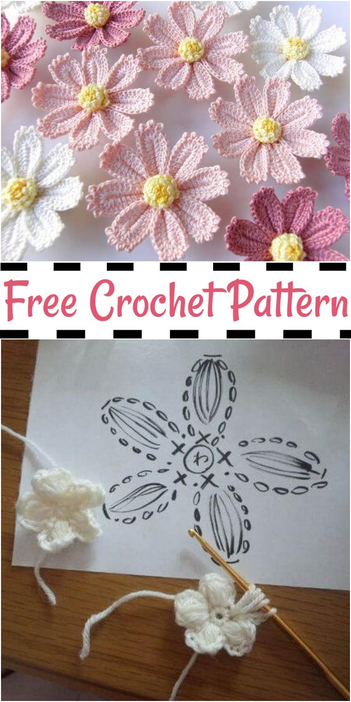 Crochet Flower Lotus Free Pattern