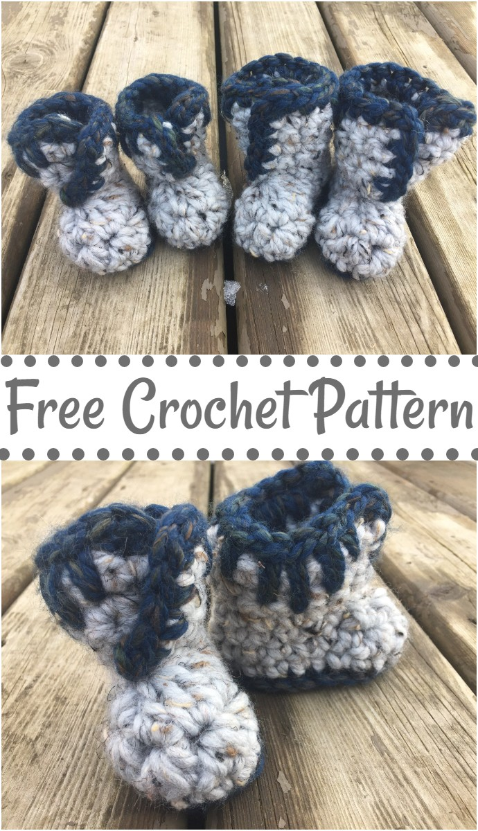 Easy Free Crochet Baby Booties