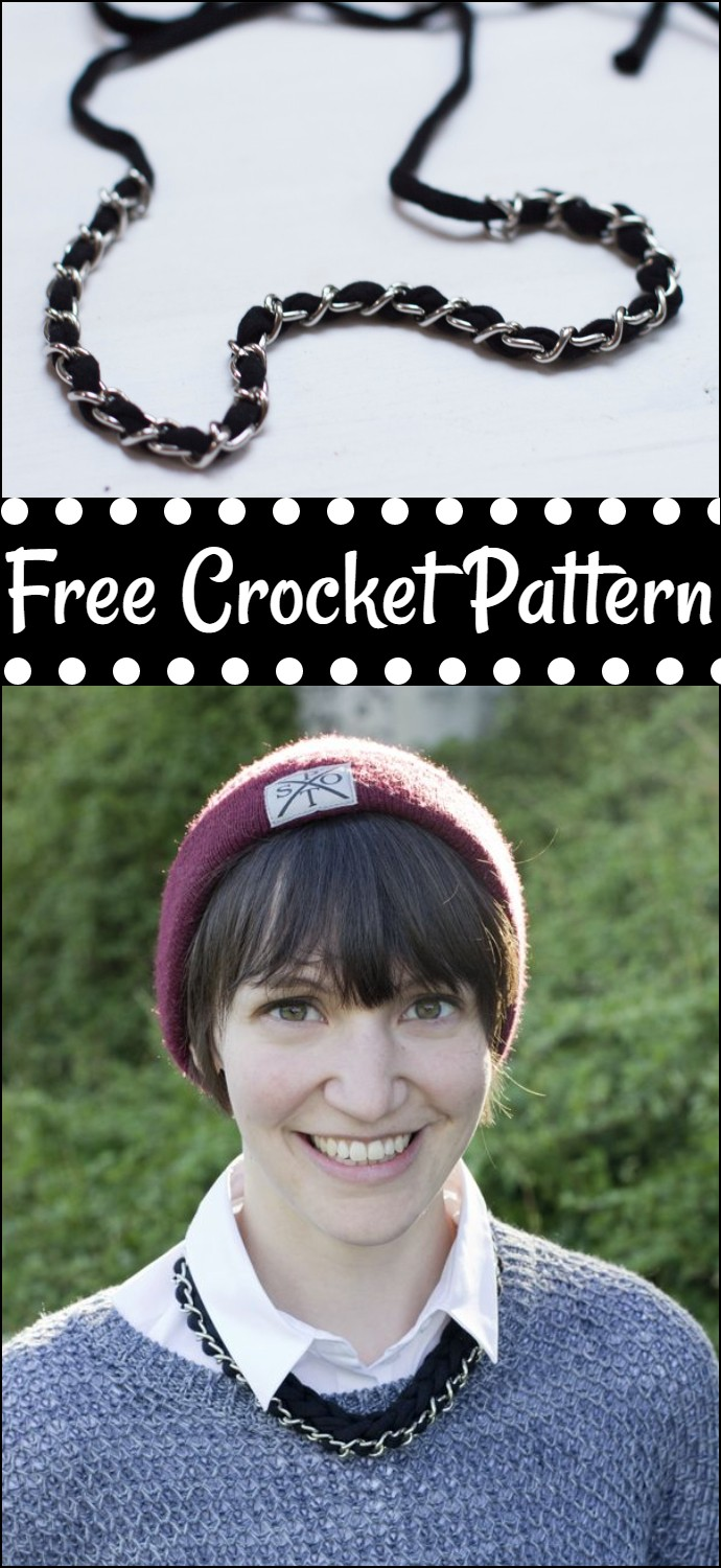 Free Crochet Chain Link Necklace