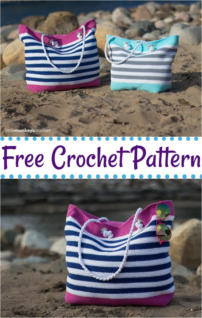 Free Crochet Classic Beach Bag