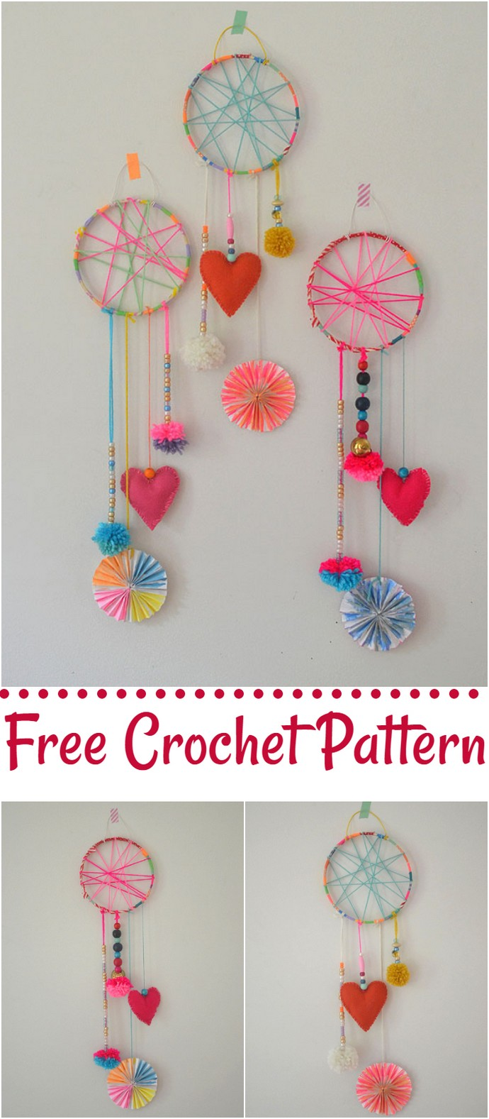 Free Crochet Dream Catchers Made By Kids