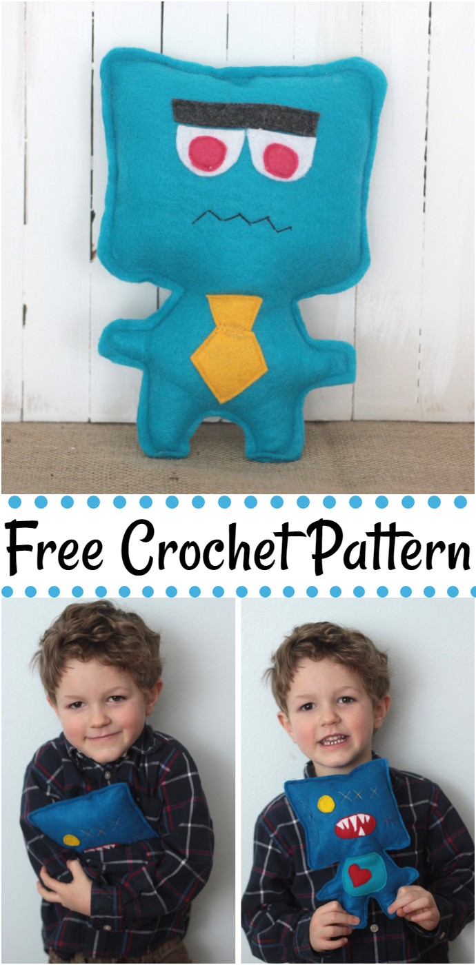 Free Crochet Easy Felt Monsters
