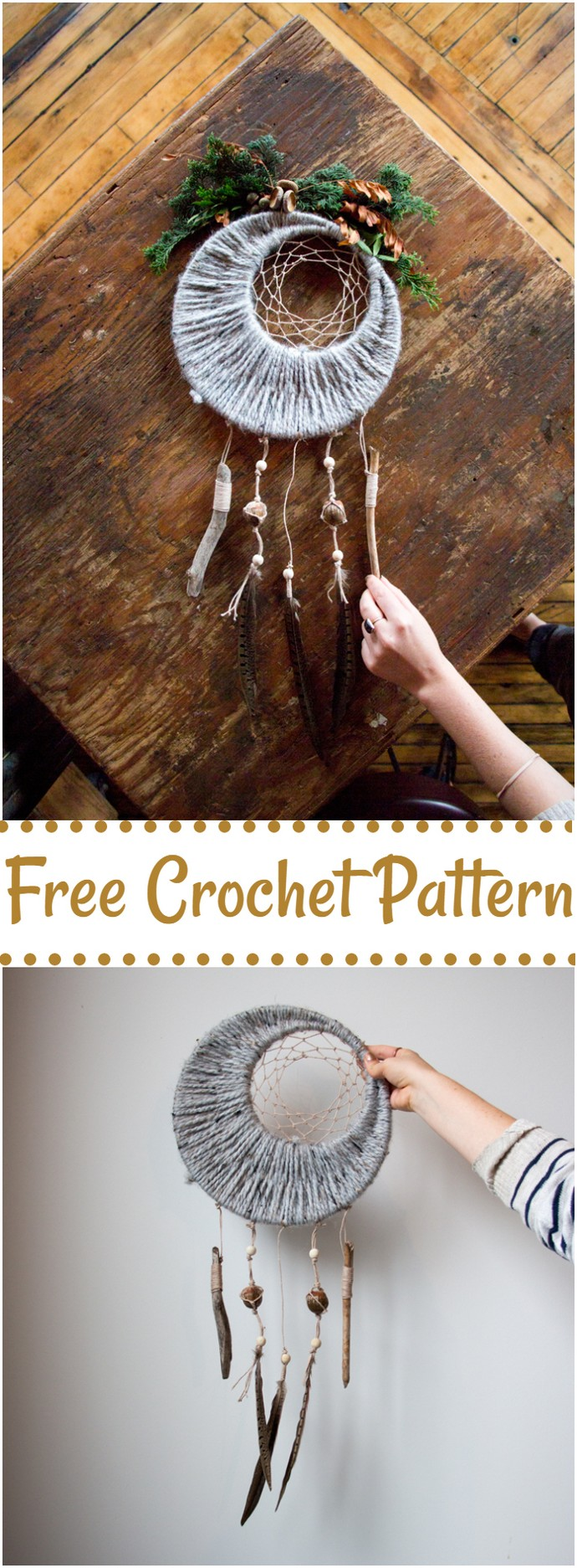 Free Crochet Fall Dreamcatcher