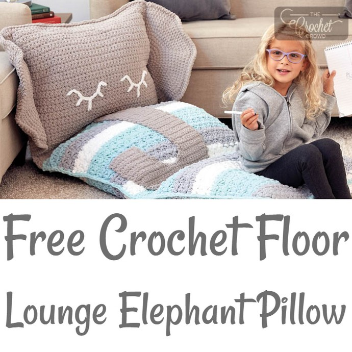 Free Crochet Floor Lounge Elephant Pillow