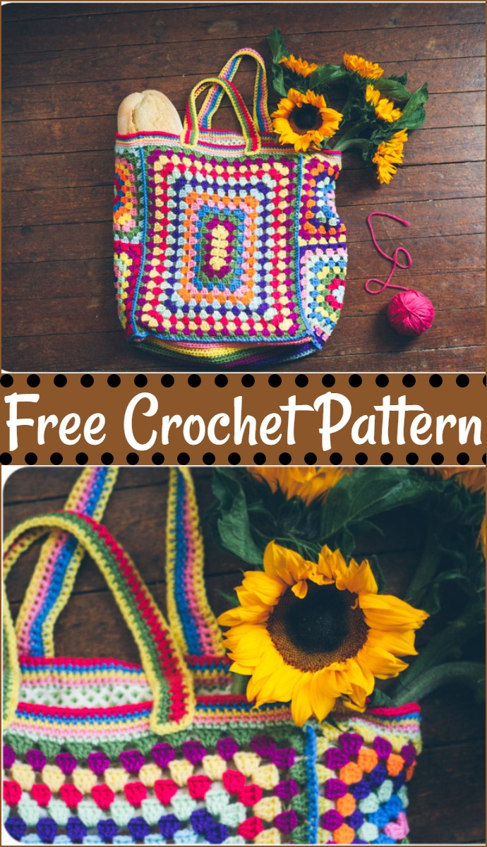Free Crochet Granny Square Bag