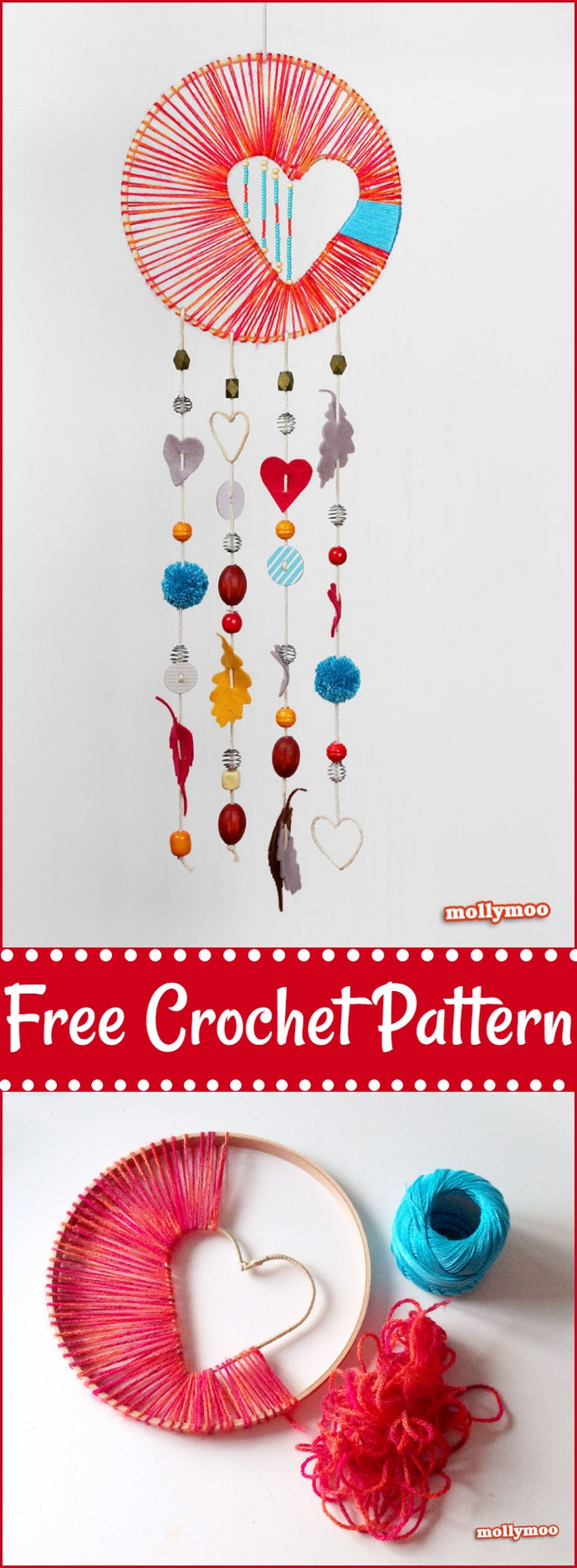 Free Crochet Heart Of Hope Dreamcatcher