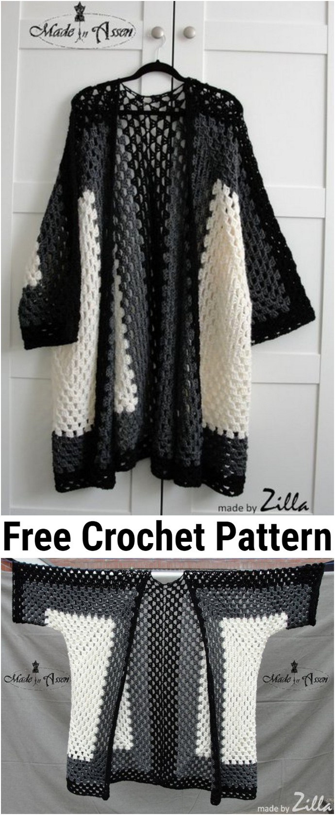 Free Crochet Hex No Hex Cardigan
