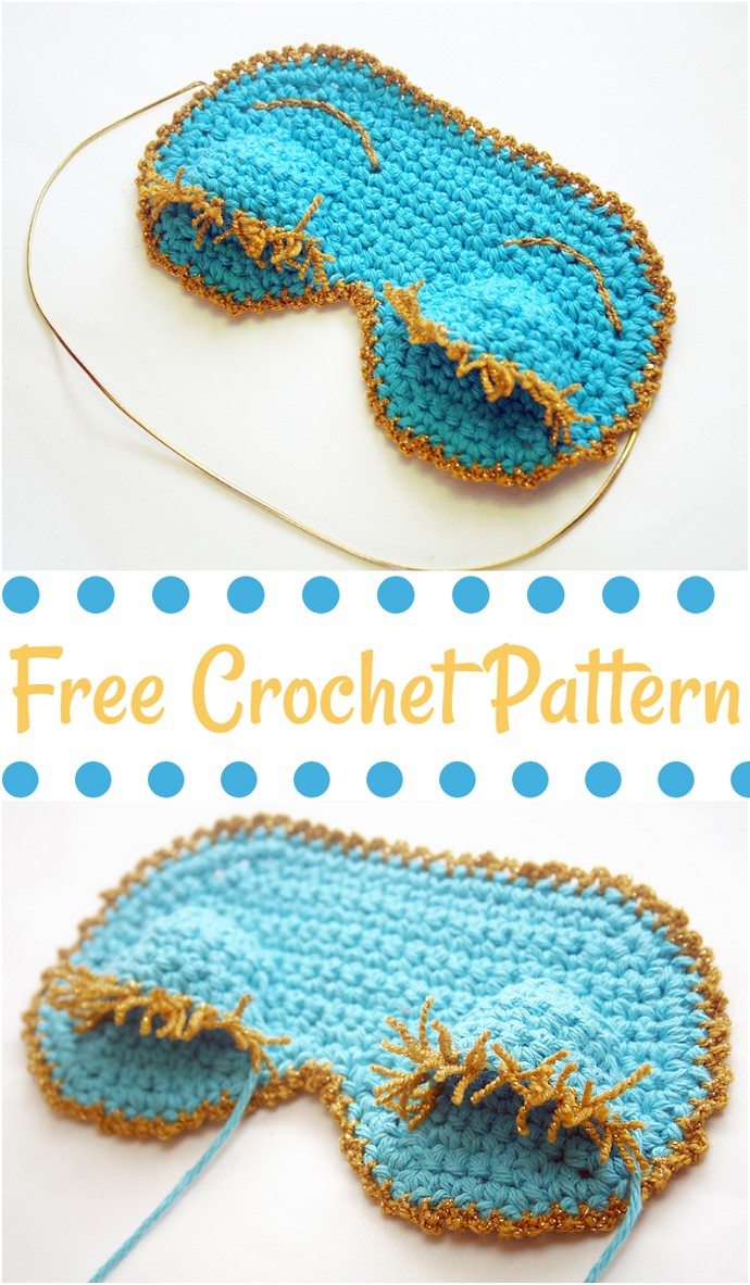 Free Crochet Holly Golightly Sleeping Mask