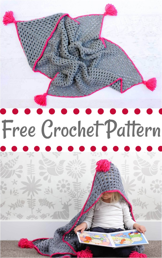 Free Crochet Hooded Baby Blanket