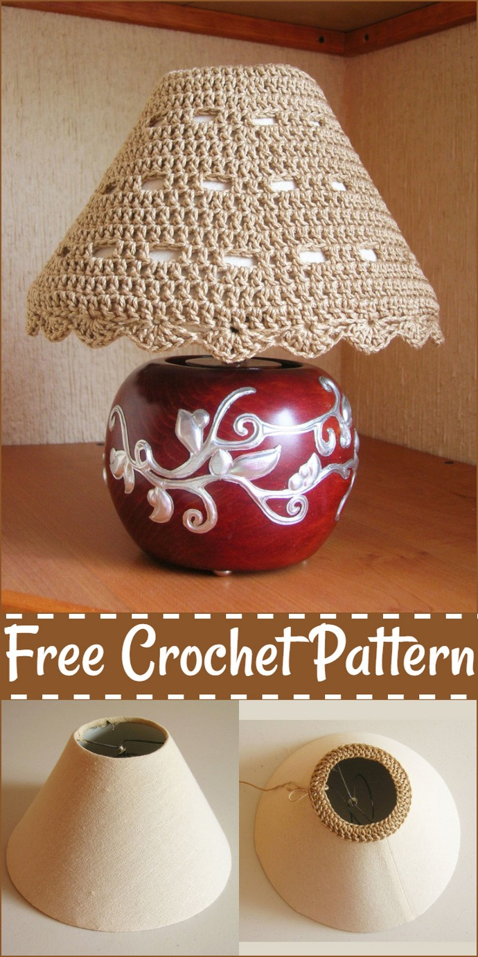 Free Crochet Lampshade Cozy Lamp Cover