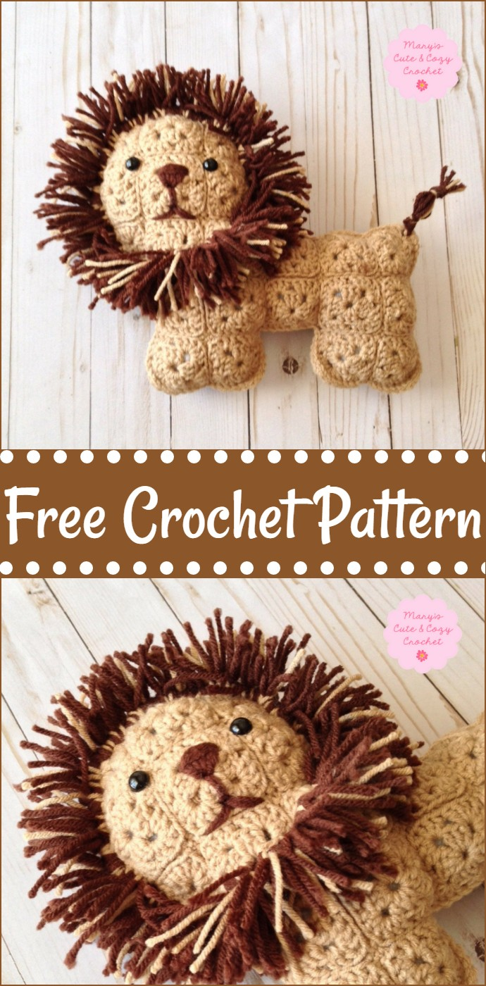 Free Crochet Leo The Lion