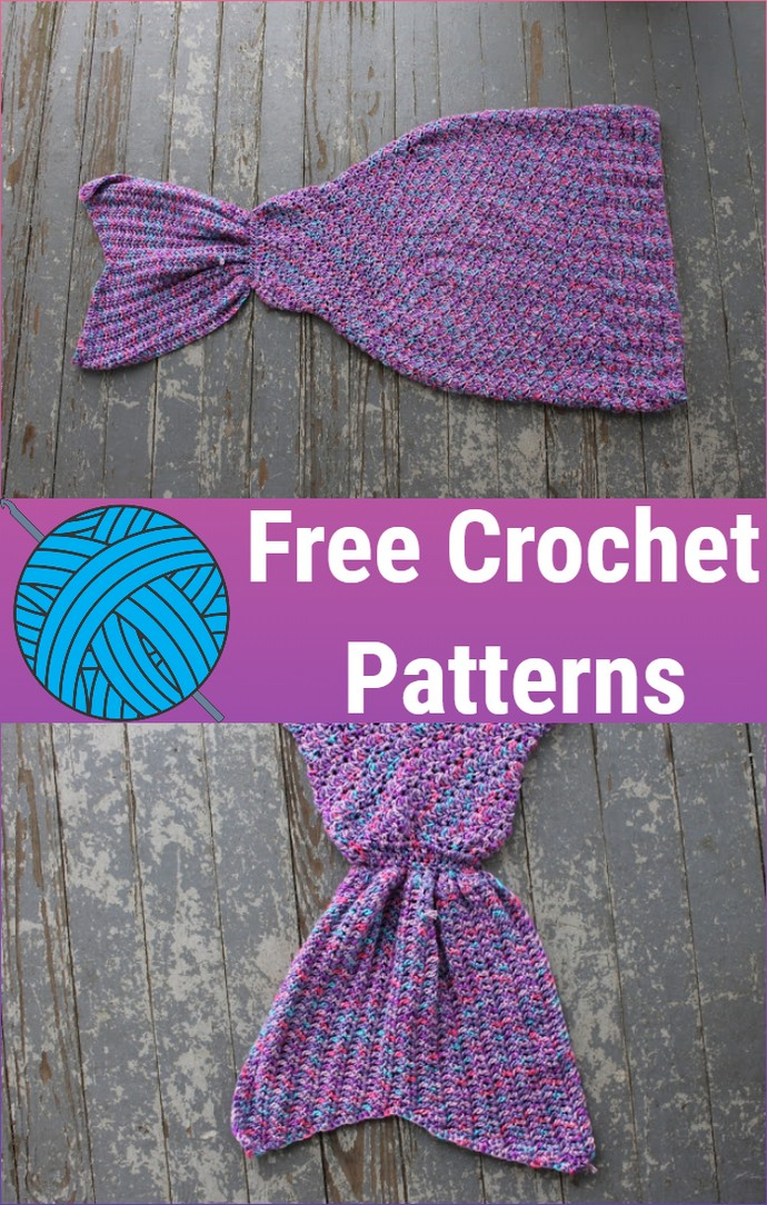 Free Crochet Mermaid Tail Blanket