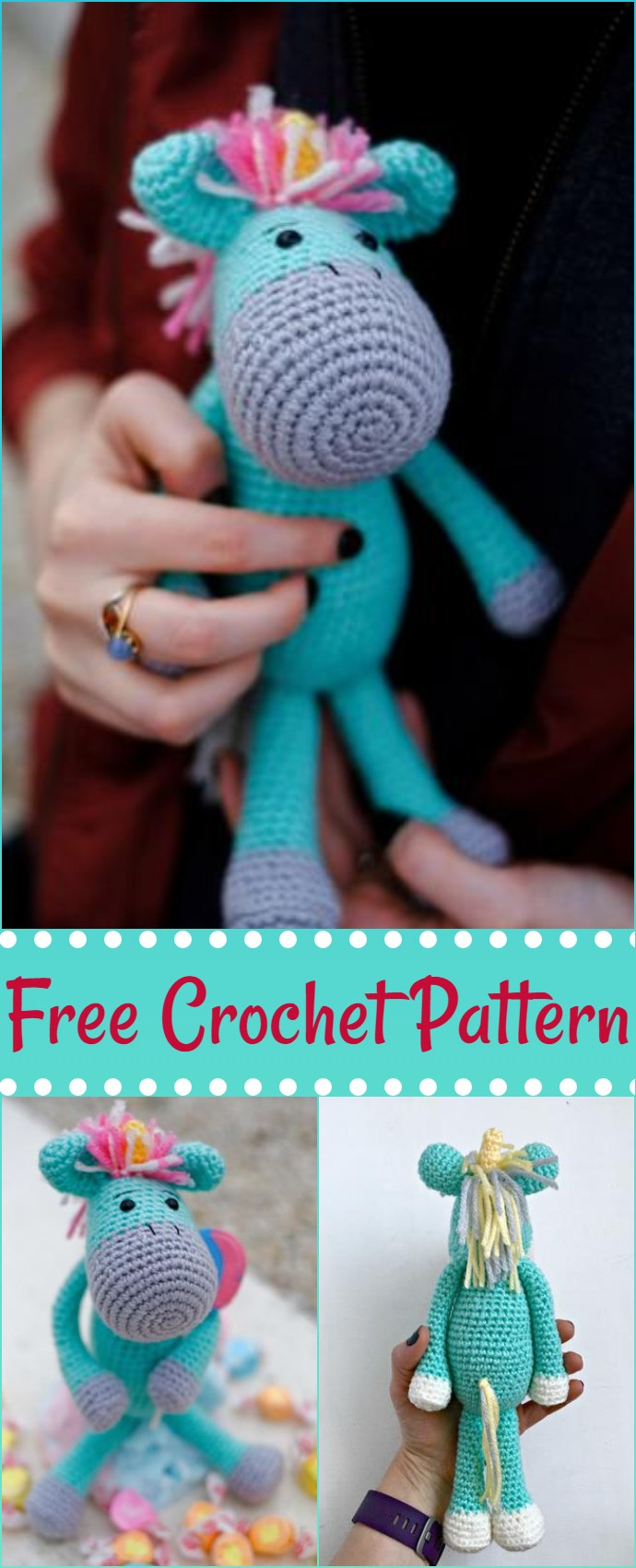 Free Crochet Molly The Magical Unicorn