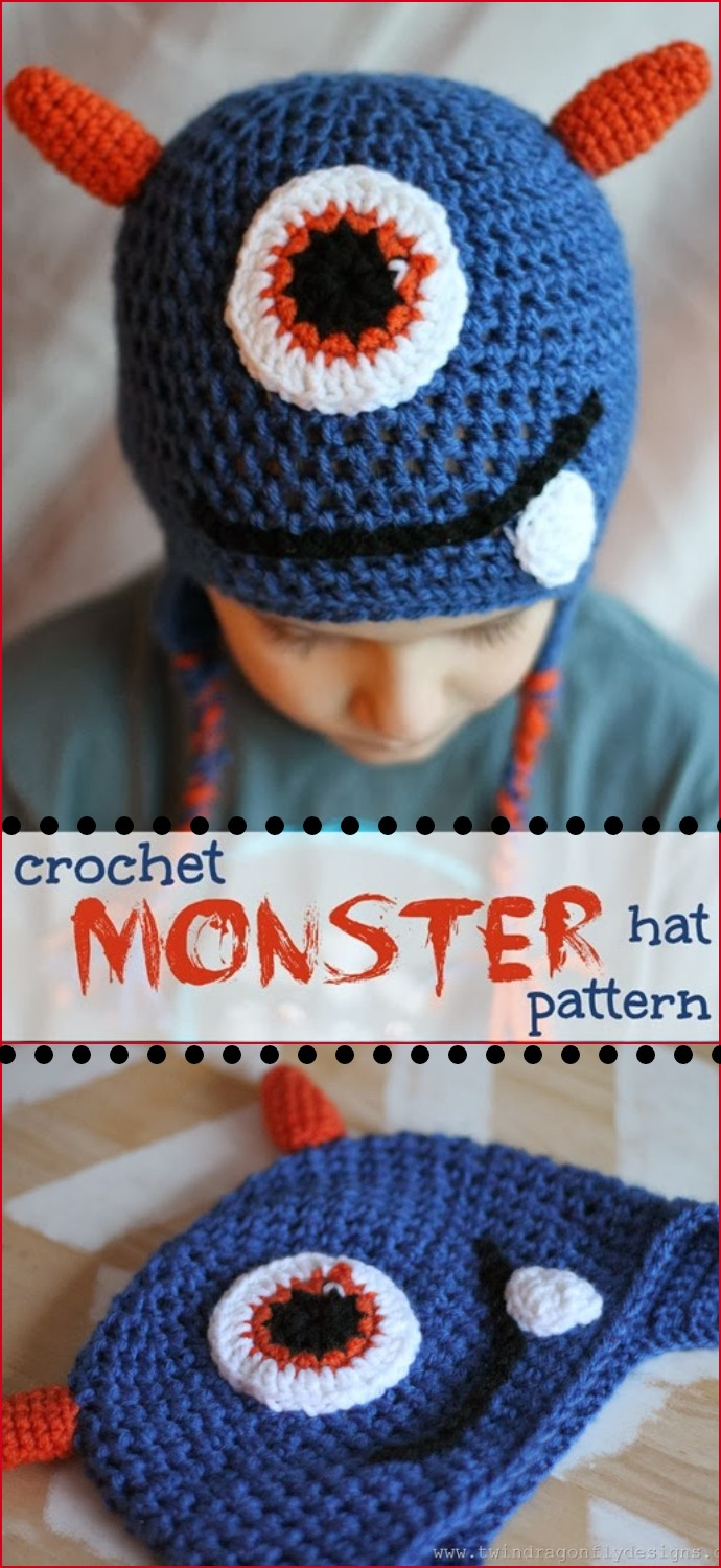 Free Crochet Monster Hat Pattern