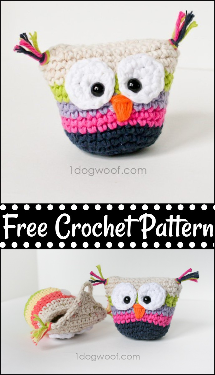 Free Crochet Owl Pouch With Pattern