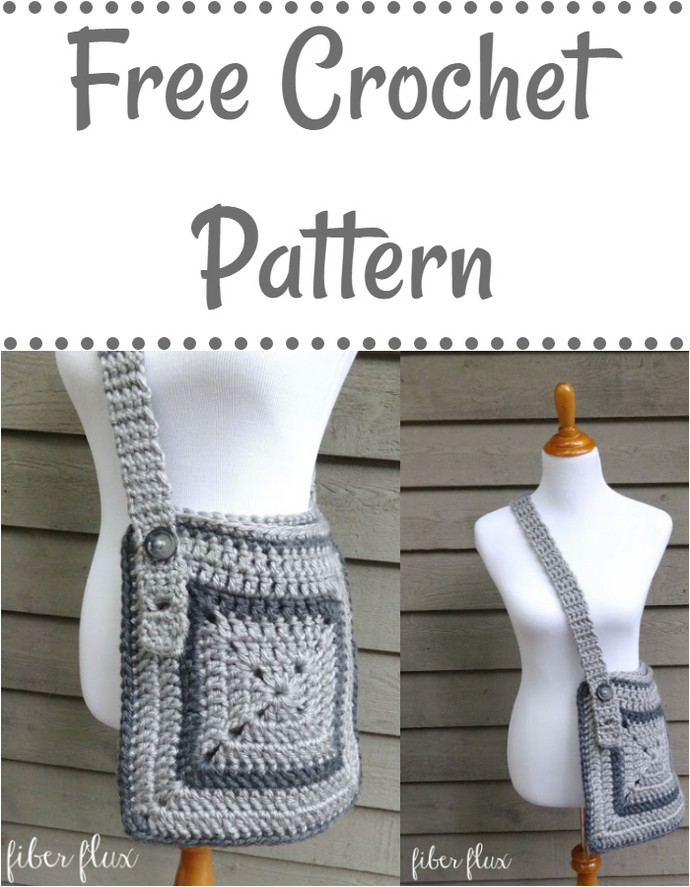 Free Crochet Pattern Cozy Messenger Bag
