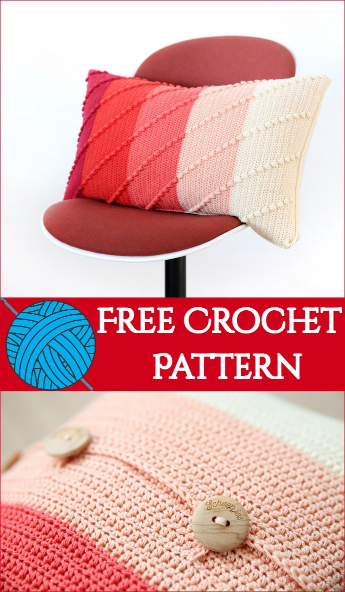 Free Crochet Pattern Parallel Pillow