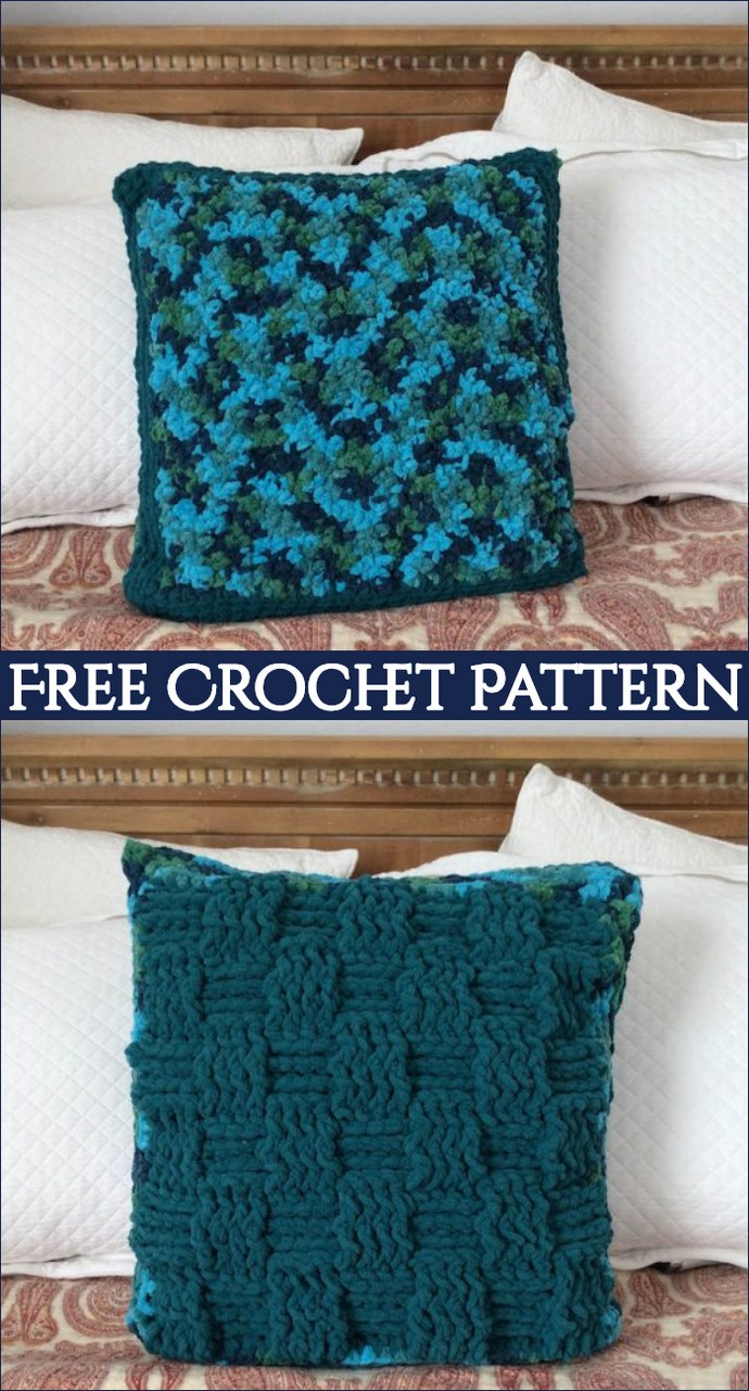Free Crochet Pattern Twin Textures Pillow