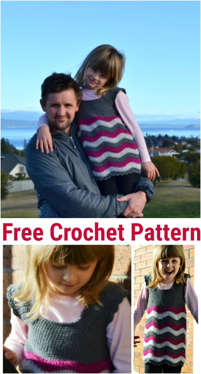 Free Crochet Ripple Dress