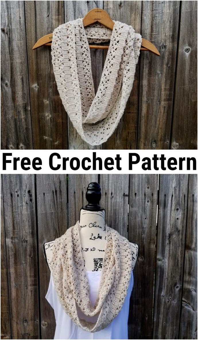 Free Crochet Rustic Lace Scarf