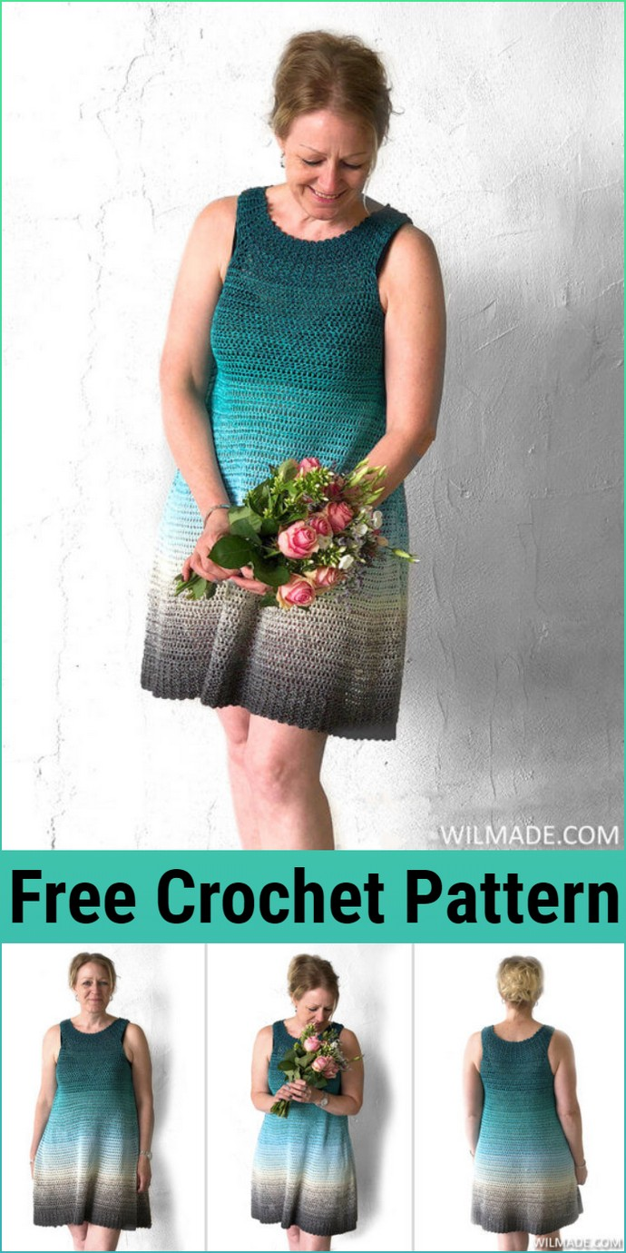Free Crochet Simple Collar Dress