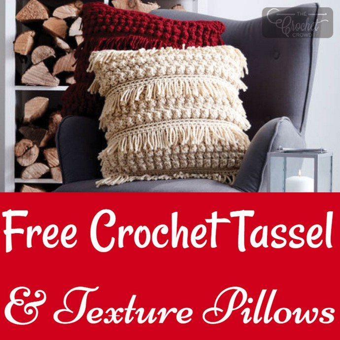 Free Crochet Tassel & Texture Pillows