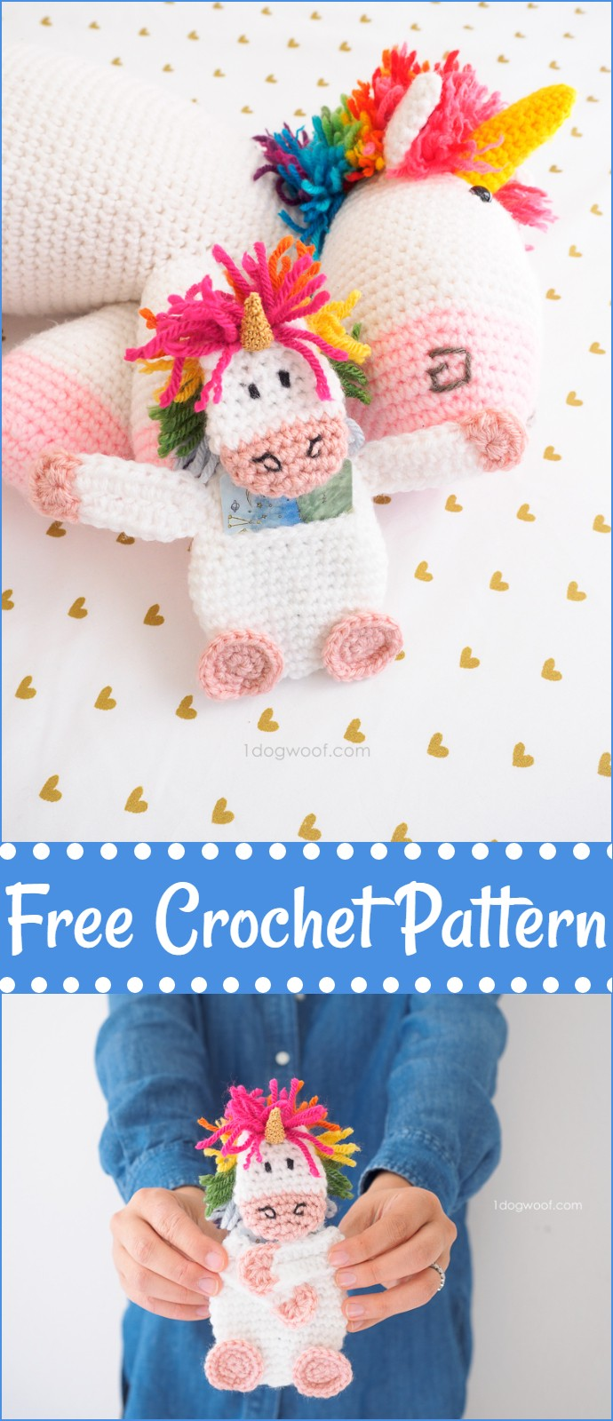 Free Crochet Unicorn Gift Card Holder