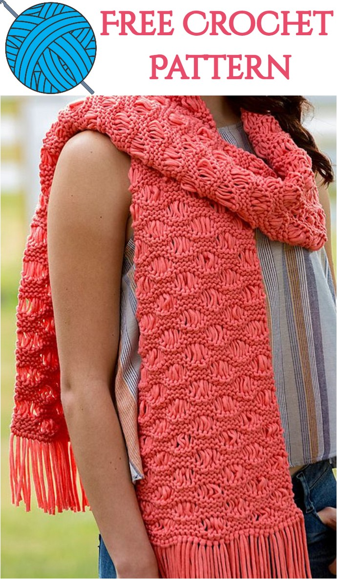 Free Crochet Wonderful Scarf