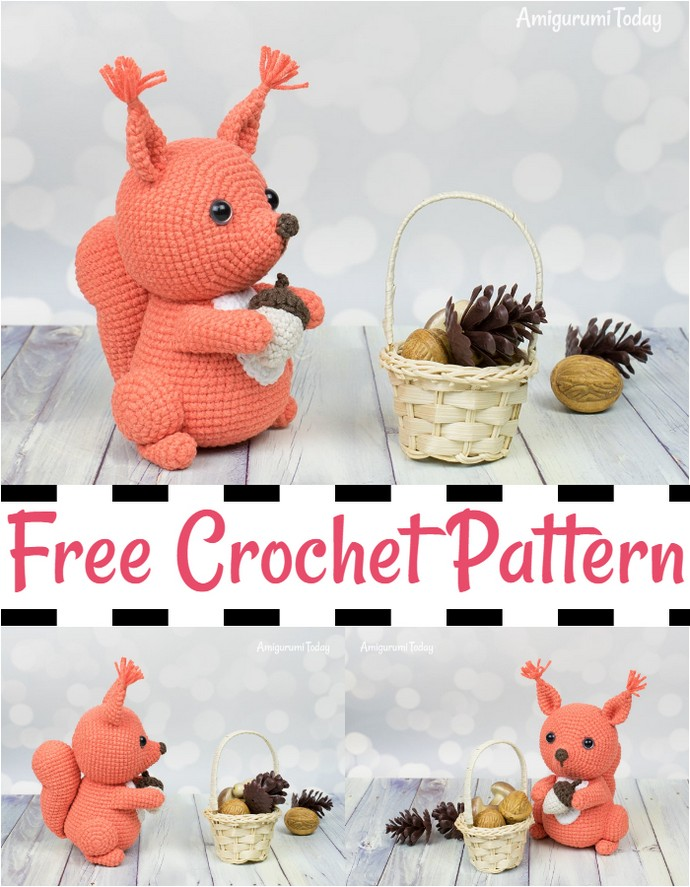 Free Squirrel Crochet Pattern By Amigurumi