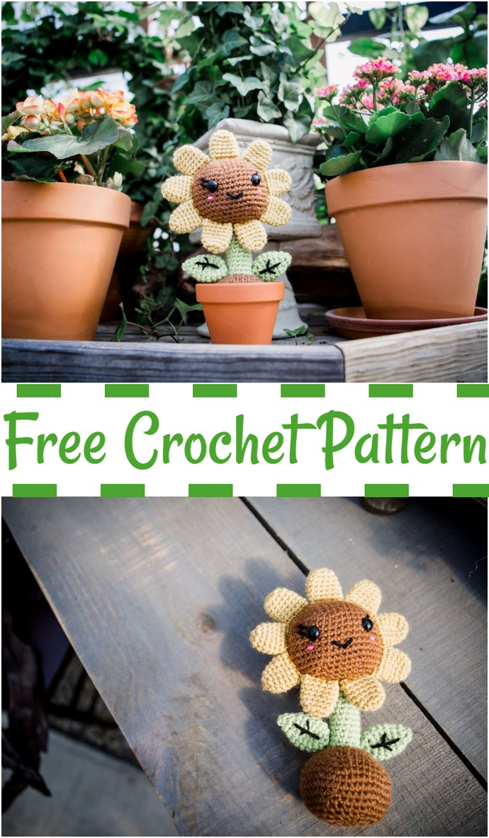 Free Sunflower Crochet Pattern