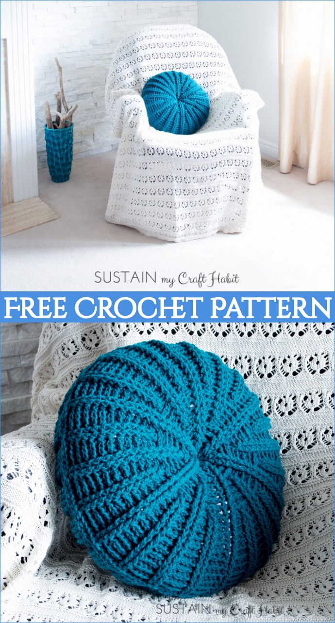 Gorgeous Free Round Crochet Pillow Pattern