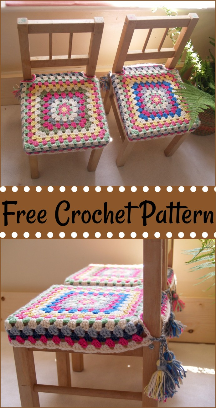 Happy Free Crochet Chair Covers