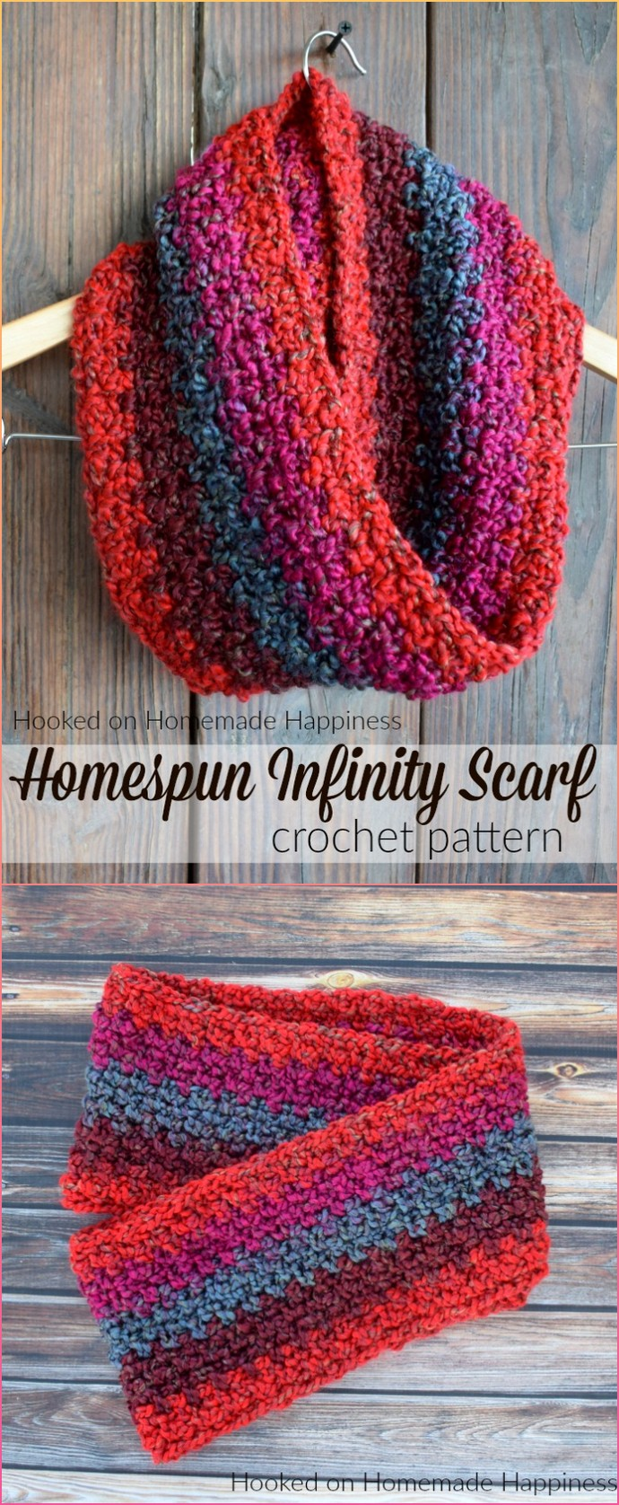 Homespun Free Crochet Scarf Pattern