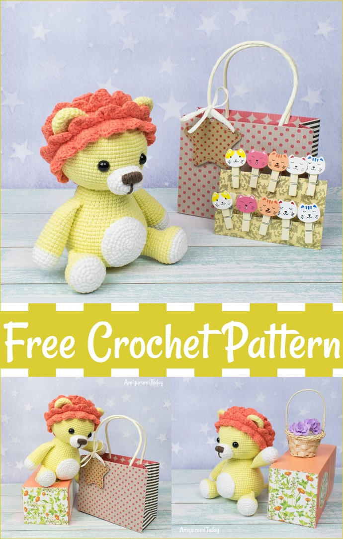 Leo The Lion Amigurumi Free Crochet Pattern