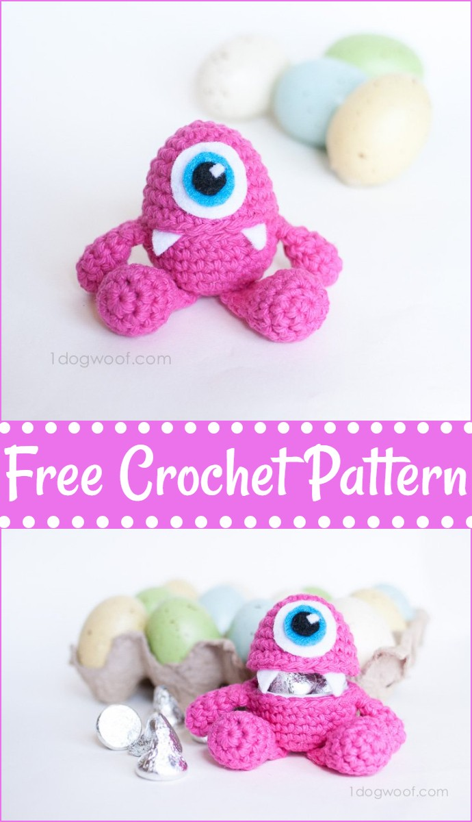 Little Monster Easter Egg Crochet Pattern