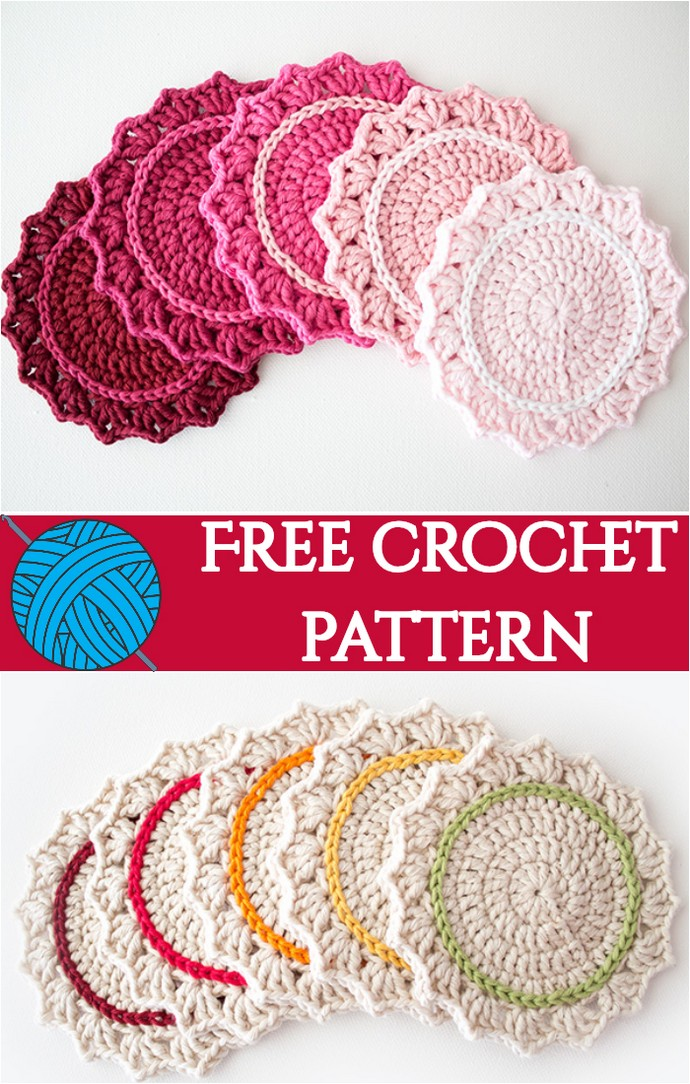 Make A Set Of Five Ombre Crocheted Coasters