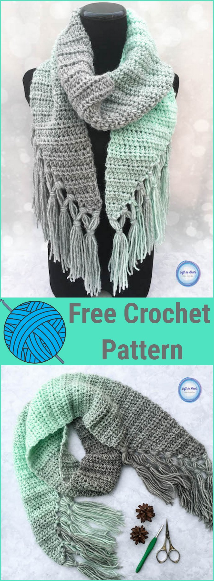 Mint Cicle Scarf Crochet Pattern