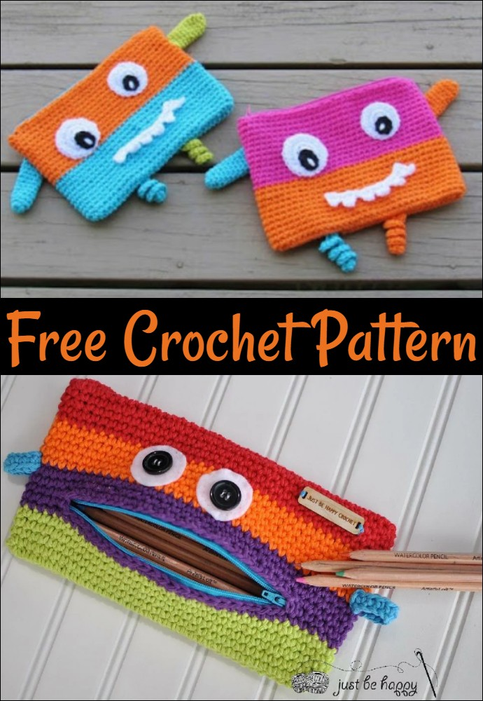 Monster Pencil Case Crochet Pattern