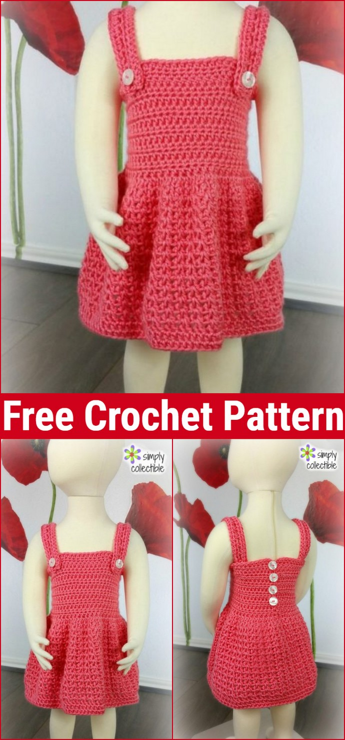 Reversible Crochet Baby Dress Pattern