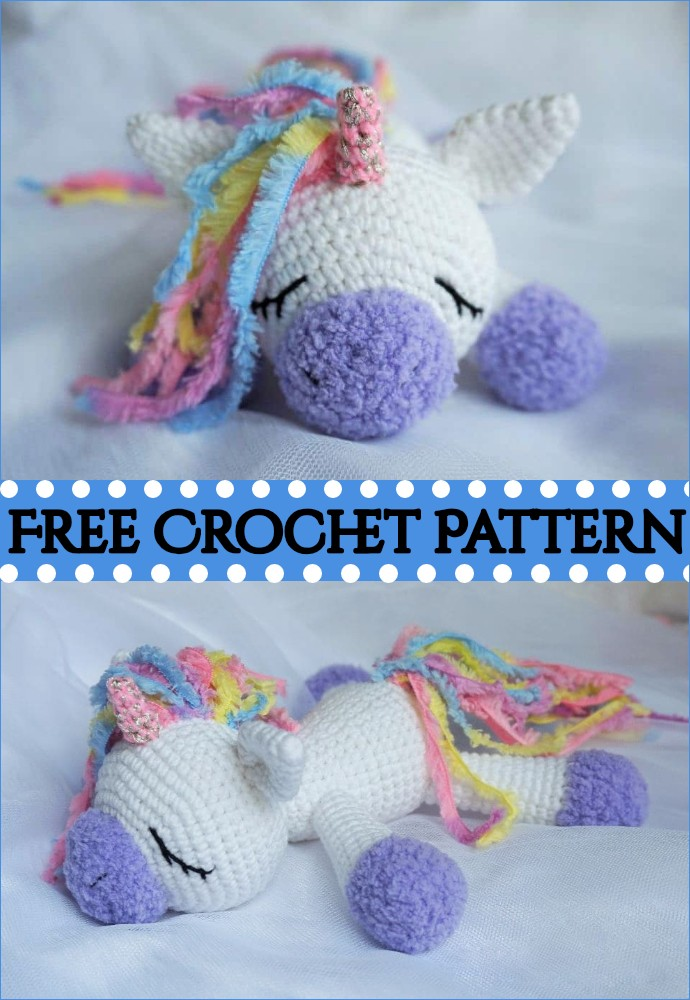 Sleeping Unicorn Pony Crochet Pattern
