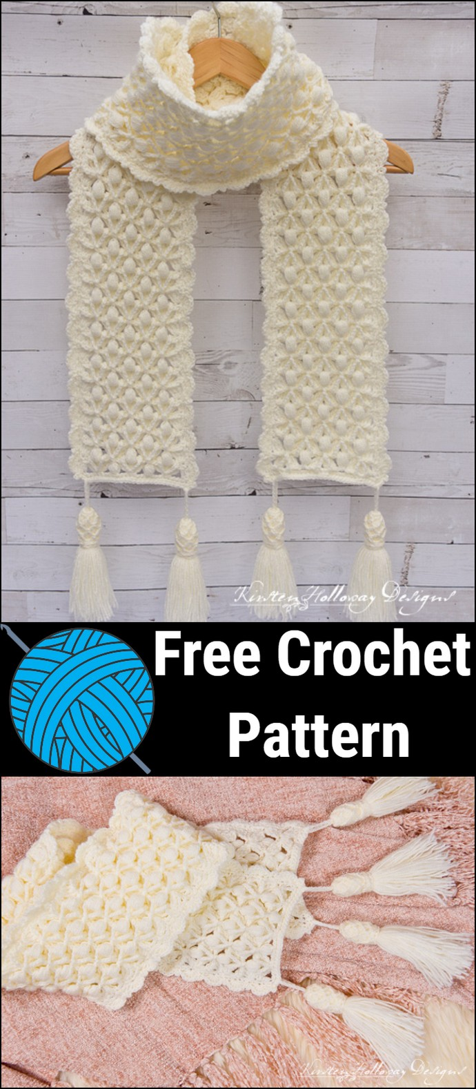 Snowberries A Luxurious Winter Scarf Crochet Pattern