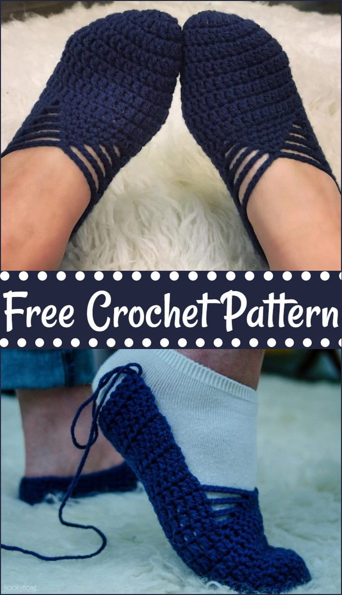 Sunday Ballet Slippers Free Crochet Pattern