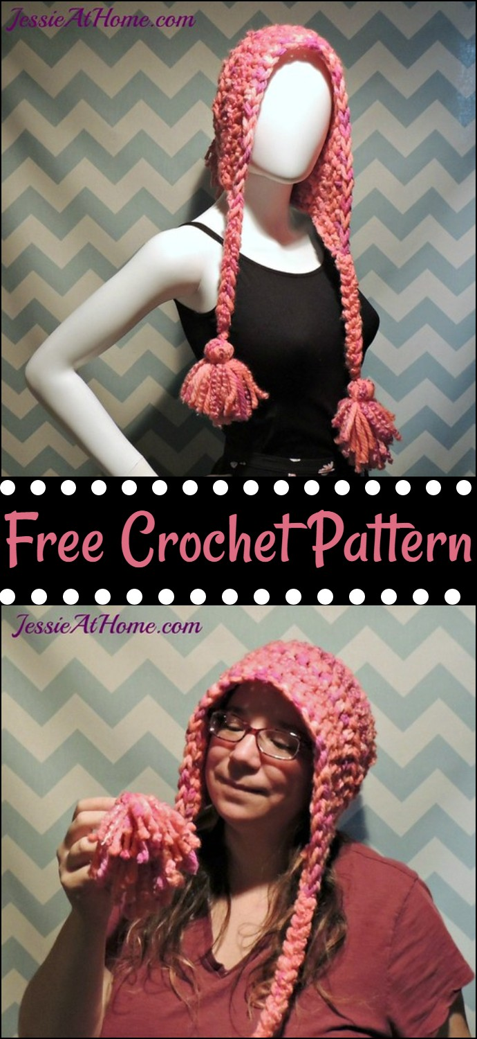 Warm Hug Hat With Tassels Crochet Pattern