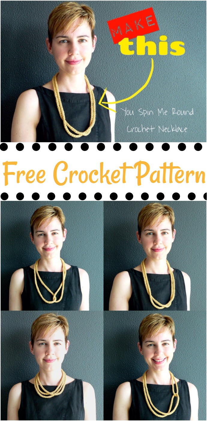 You Spin Me Round Necklace Free Crochet Pattern